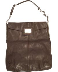 Roger Vivier - Grey Leather Handbag - Lyst