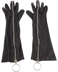 Acne Studios - Leather Long Gloves - Lyst