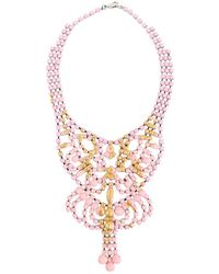 Tom Binns - Pre-owned Pink Silver Plated Necklaces - Lyst