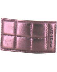Chanel - Purple Leather Hair Accessory Matelassé - Lyst