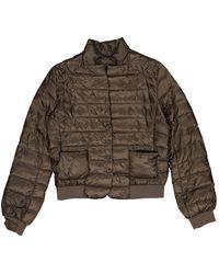 Moncler - Khaki Synthetic Coat - Lyst