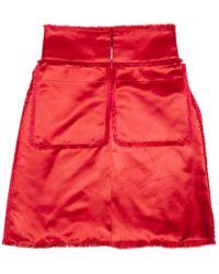 Chanel - Red Silk Skirt - Lyst