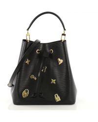 Louis Vuitton - Pre-owned Néonoé Black Leather Handbags - Lyst