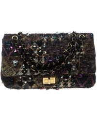 Proenza Schouler Curl Small Tweed And Leather Clutch - Lyst fd511b3ce2d49