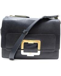 Roger Vivier Prismick Fringed Metallic Leather Bucket Bag in ... 779e011650470