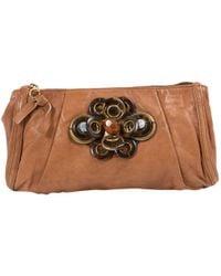 Chloé - Leather Clutch Bag - Lyst