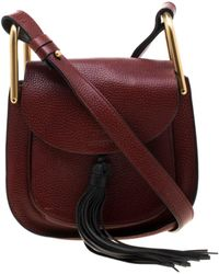 Chloé - Hudson Burgundy Leather Handbag - Lyst