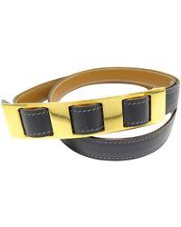 Hermès - Vintage Grey Leather Belts - Lyst