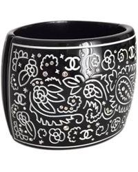 Chanel - Gold Plastic Bracelet - Lyst
