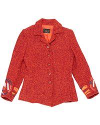 Christian Lacroix - Pre-owned Vintage Orange Wool Jackets - Lyst