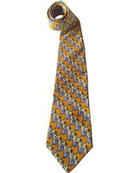 Givenchy - Vintage Yellow Silk Ties - Lyst