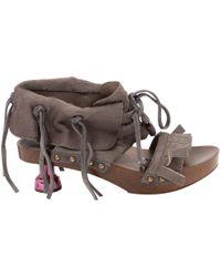 Louis Vuitton - Pony-style Calfskin Sandals - Lyst