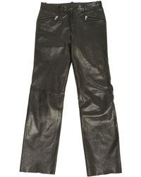 Maison Margiela - Black Leather Trousers - Lyst