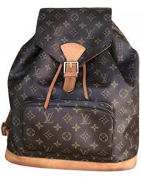 Louis Vuitton Pre-owned Montsouris Brown Cloth Backpacks