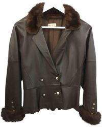 Loewe - Leather Biker Jacket - Lyst