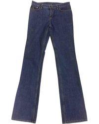 Louis Vuitton - Blue Cotton Jeans - Lyst