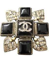 Chanel - Black Metal Pins & Brooches - Lyst