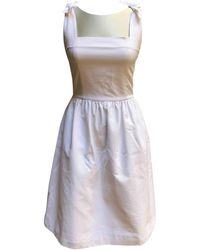 Chanel - Pre-owned Vintage White Cotton Dresses - Lyst