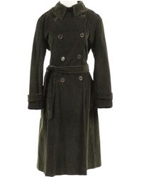 Moschino - Green Cotton Coat - Lyst