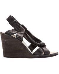 Maison Margiela - Pre-owned Black Leather Sandals - Lyst
