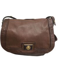 3e599b42d358 Marc By Marc Jacobs - Pre-owned Classic Q Brown Leather Handbags - Lyst