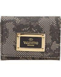 Valentino - Piccola pelletteria Grigio - Lyst