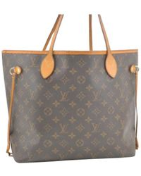 15c956cedf79 Lyst - Louis Vuitton N 51107 Damier Azur Neverfull Mmtote Bag White ...