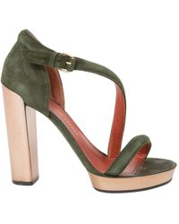 Marc By Marc Jacobs - Green Suede Sandals - Lyst