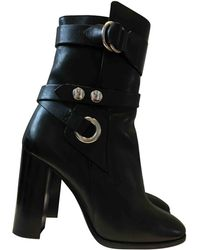 Isabel Marant - Black Leather Ankle Boots - Lyst