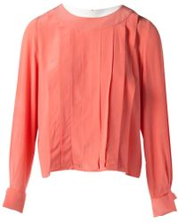 Chanel - Pre-owned Vintage Pink Silk Tops - Lyst