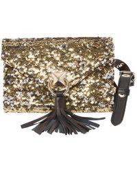 Sonia Rykiel - Pre-owned Gold Glitter Clutch Bag - Lyst 56d48cf310d7e