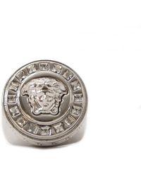 Versace - Medusa Silver Metal Ring - Lyst