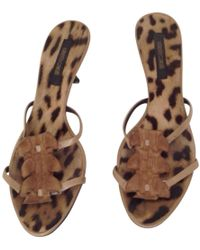 Roberto Cavalli - Brown Exotic Leather Sandals - Lyst
