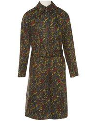 Bottega Veneta - Multicolour Polyester Coat - Lyst