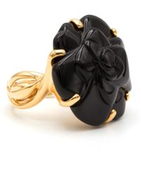 Chanel - Camélia Gold Yellow Gold Ring - Lyst