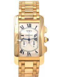 Cartier - Tank Américaine Yellow Gold Watch - Lyst