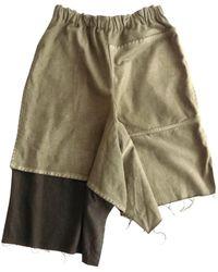 Comme des Garçons - Green Cotton Trousers - Lyst