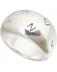 Chanel - Silver Ring - Lyst