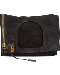 Tom Ford - Pre-owned Alix Black Suede Handbags - Lyst