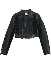 Hervé Léger - Leather Short Vest - Lyst