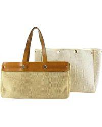 Hermès - Pre-owned Vintage Herbag Brown Cloth Handbag - Lyst
