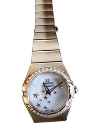 Omega - Pre-owned Constellation Pink Gold Watch - Lyst