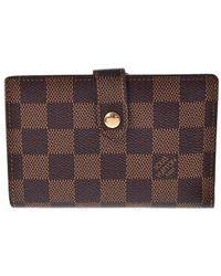Louis Vuitton - Brown Cloth Wallets - Lyst