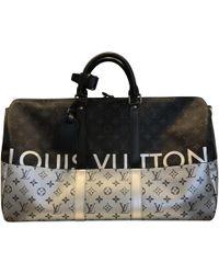 Lyst - Louis Vuitton Keepall 45 Boston Hand Bag Epi Leather Black ... 9a86c5597f5e9
