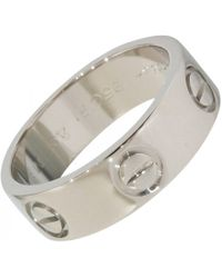 Cartier - Pre-owned Love Platinum Ring - Lyst