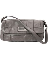 Marc By Marc Jacobs - Pre-owned Grey Leather Handbags - Lyst