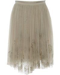 Needle & Thread Ecru Synthetic Skirts - Multicolour