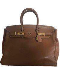 Hermès - Birkin 40 Camel Leather Handbag - Lyst