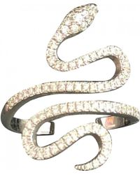 Messika - Snake Silver White Gold Ring - Lyst