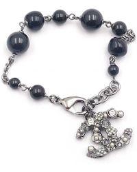 Chanel - Pre-owned Black Metal Bracelet - Lyst